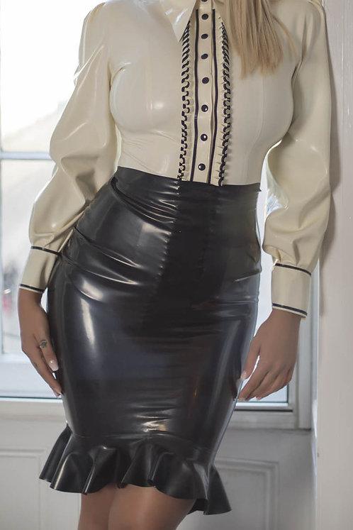 Latex Flounce Skirt