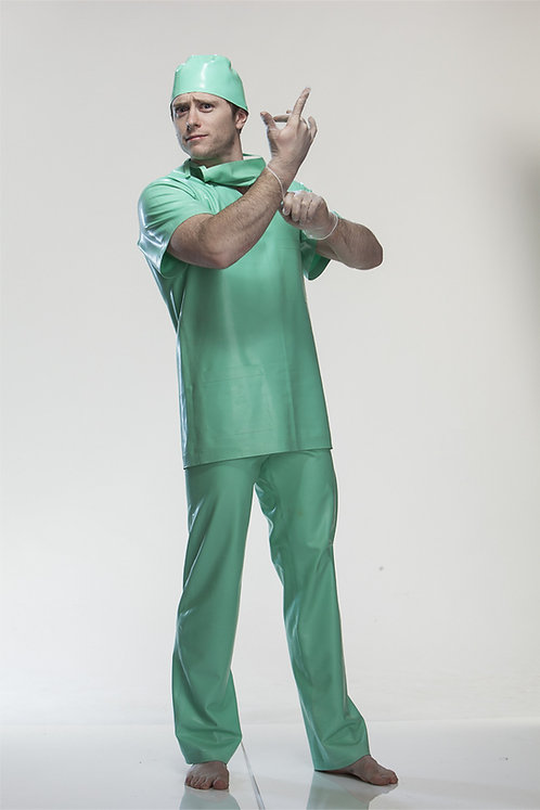 Complete Latex Scrubs Set