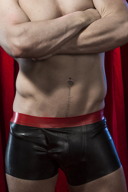 Latex Fly Opening Boxers