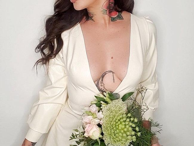 Latex Olive Dress