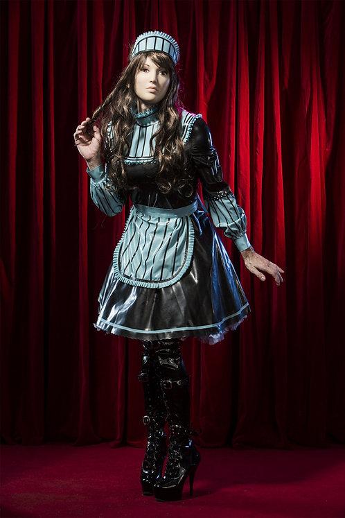 Latex Bleu Sissy Maid Set
