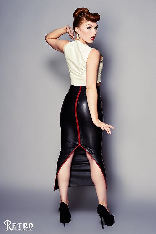 Latex Hobble Skirt