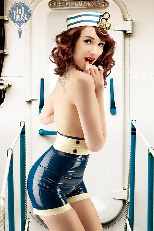 Latex Sailor Shorts