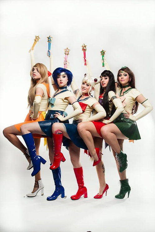Latex Sailor Scout Skirts