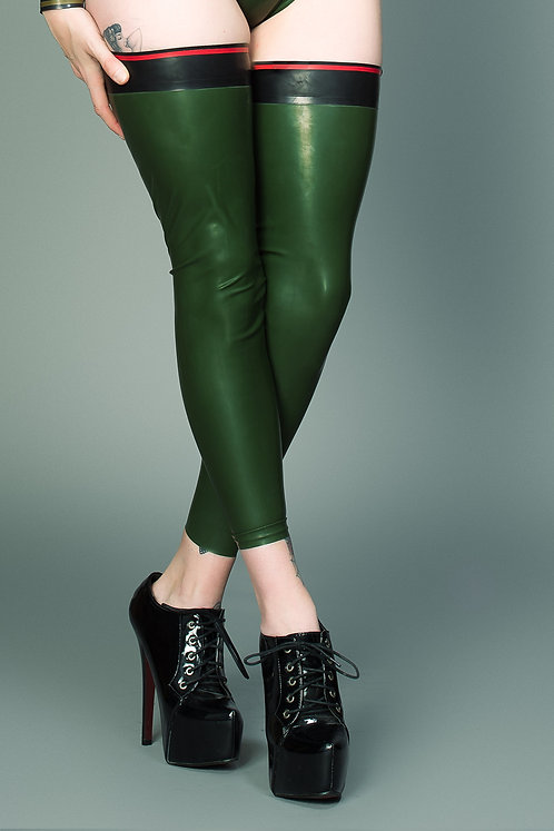 Latex Military Stockings