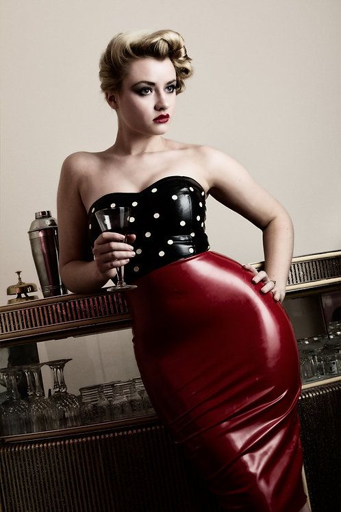 Latex Pin-Up Pencil Dress