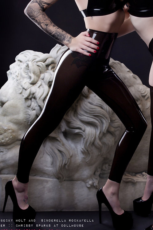 Latex Footless Tights