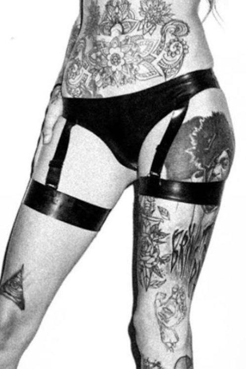Latex Garter Panties