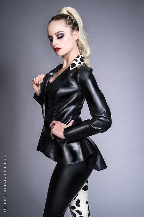 Latex Peplum Jacket