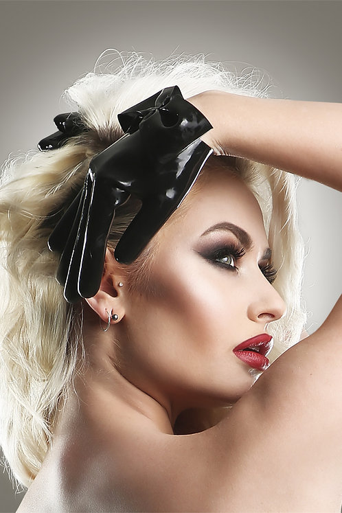 Latex Bow Gloves