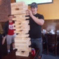 Giant Jenga at NYC Huskers watchsite