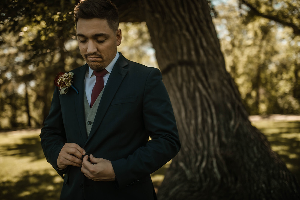 Groom. Wedding Day. Wedding Photography. Summer Wedding. Minot. North Dakota Wedding.