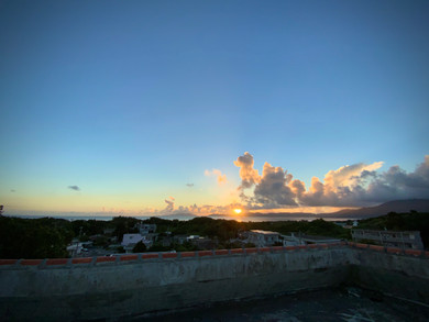 屋上からの朝日