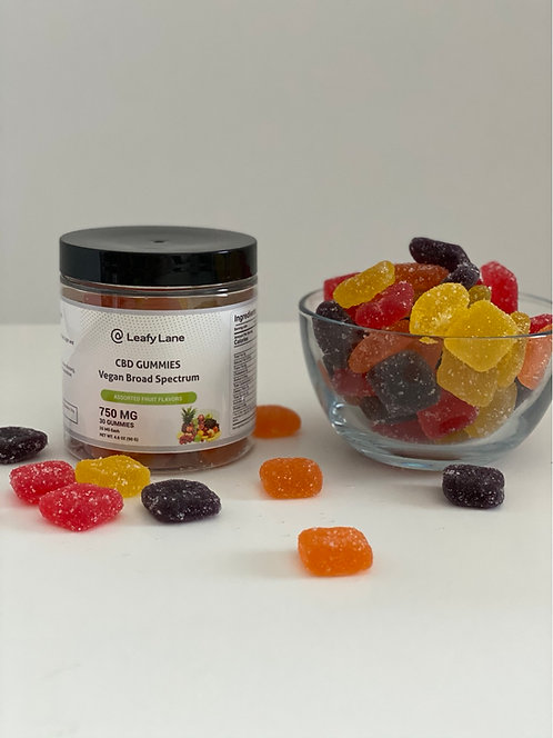 750mg Broad Spectrum Gummy Squares