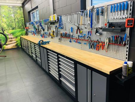 Foto's nieuwe werkplaats