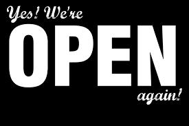 Onze winkel mag ook terug open!!
