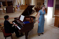 In recital with Eric Hunter, piano