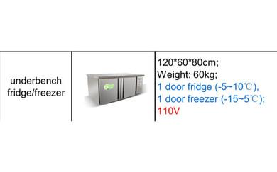 Half fridge freezer