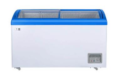 Sliding top freezer
