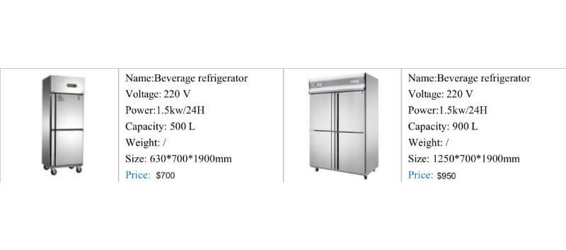 Standup bev fridge