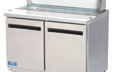 Prep fridge with bins