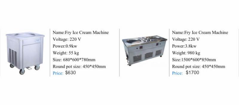 Ice cream fryers