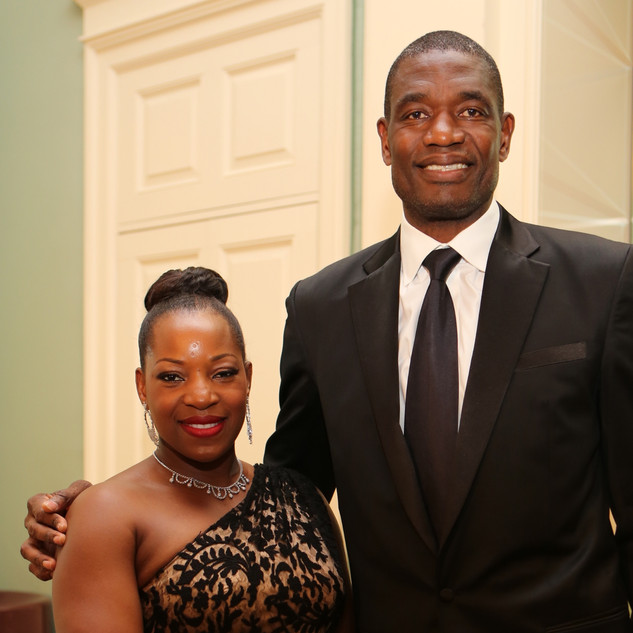Rose and Dikembe Mutombo