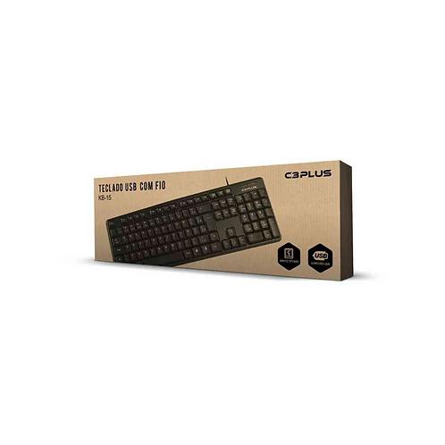 Teclado USB C3Plus KB-15BK