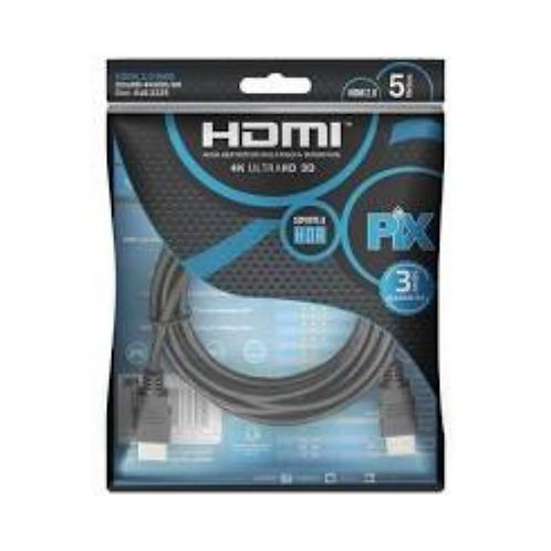 Cabo HDMI PIX 4K Ultra 3D - 5m