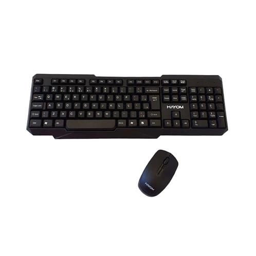 Teclado e Mouse Sem Fio 1200 DPI TC3210 Preto - Hayom
