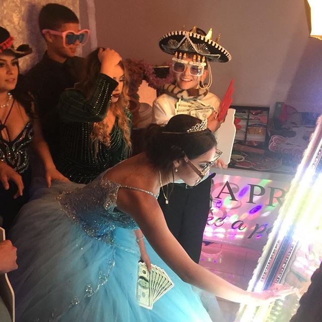 Our Chidas Mirror Booth! #sanjosephotobooths #quinceanerabayarea #mirrorboothbayarea #sanjosequinceañeras