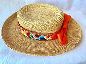 needlepoint belt made into hatband.jpg