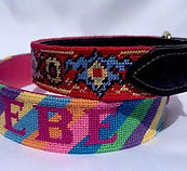 Needlepoint Dog collars, so cute!