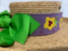 Luggage Strap made into Needlepoint hatband