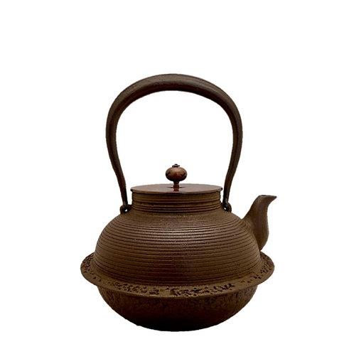 鉄瓶 甑羽根付糸目(唐銅蓋) 1.2L