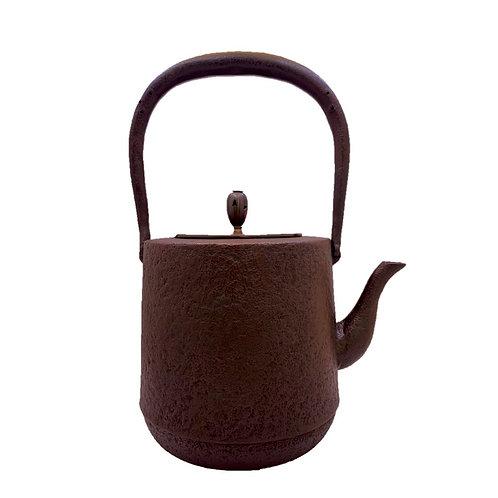 鉄瓶 寸胴肌糸目(唐銅蓋) 1.2L