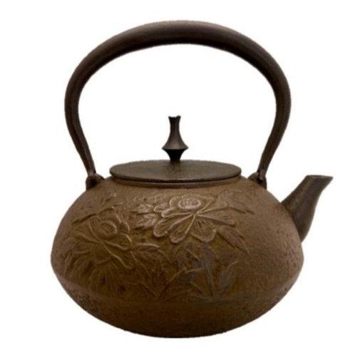 鉄瓶 平丸型牡丹 1.5ℓ