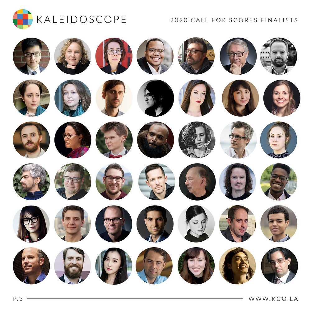 Finalists of Kaleidoscope's 2020 Call for Score
