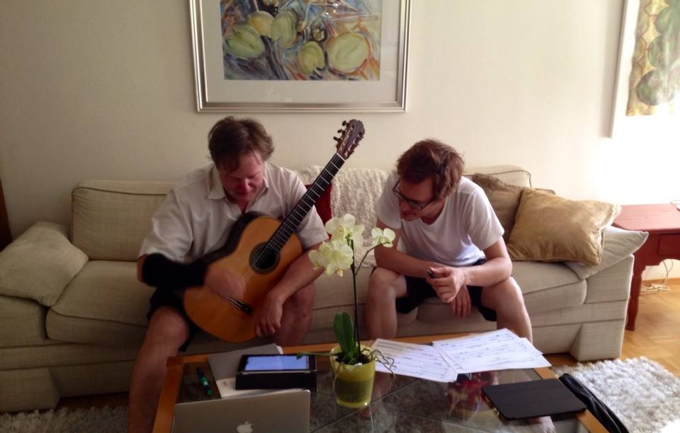Rehearsal with Timo Korhonen, July 2014