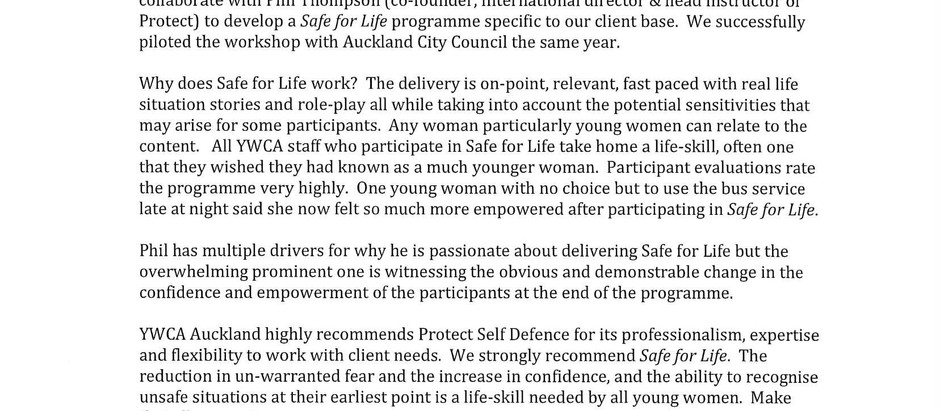 YWCA + Protect + Empowered & Safe Women