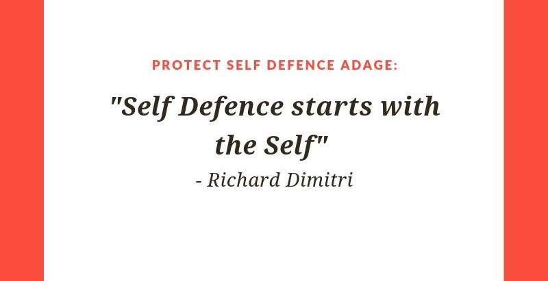 """""""Self-defence starts with the self""""..."""