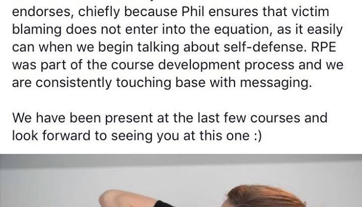 """""""Safe For Life is the only self-defense course that RPE endorses..."""""""