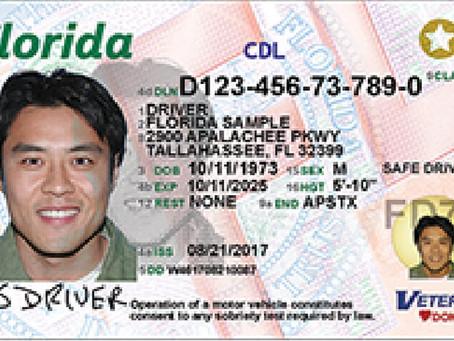 受病毒影响佛州交通局发布关于驾照延期通知