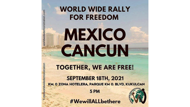 World Wide Rally for Freedom Cancún