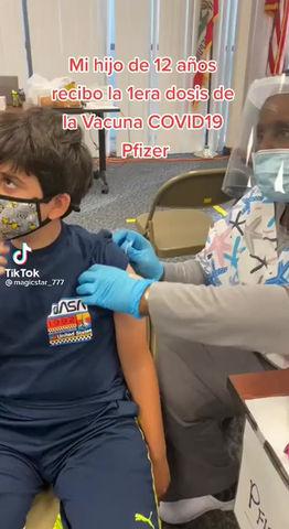 """Niño de 12 años """"vacunado"""" hospitalizado."""