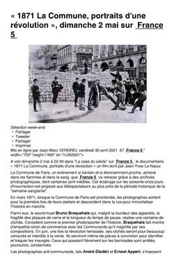 La Commune Les coulisse de la TV p01
