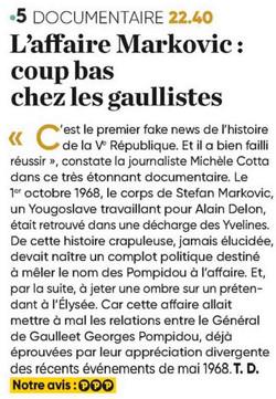 Presse Markovic France 5
