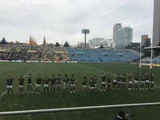 関東ラグビーリーグ戦本学最終戦応援、いろは坂駅伝応援
