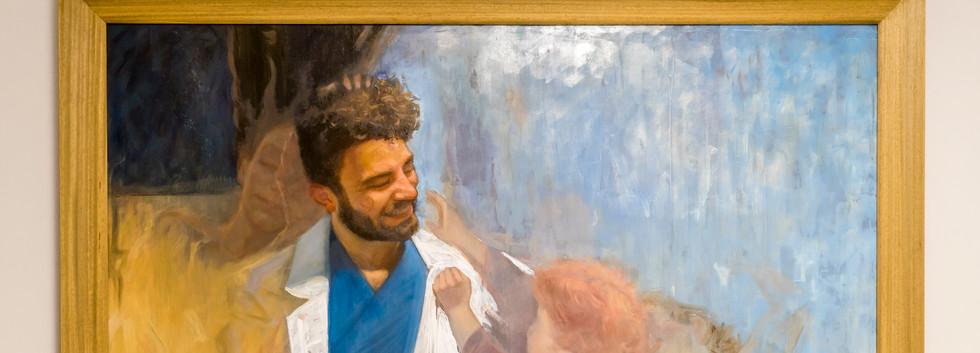 MATTIA MAGNANO - FRANCESCO (tecnica mista 150 x 100)