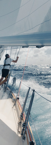 Dale Davis in his element. Passage from Bermuda to St. Thomas.  September 2018